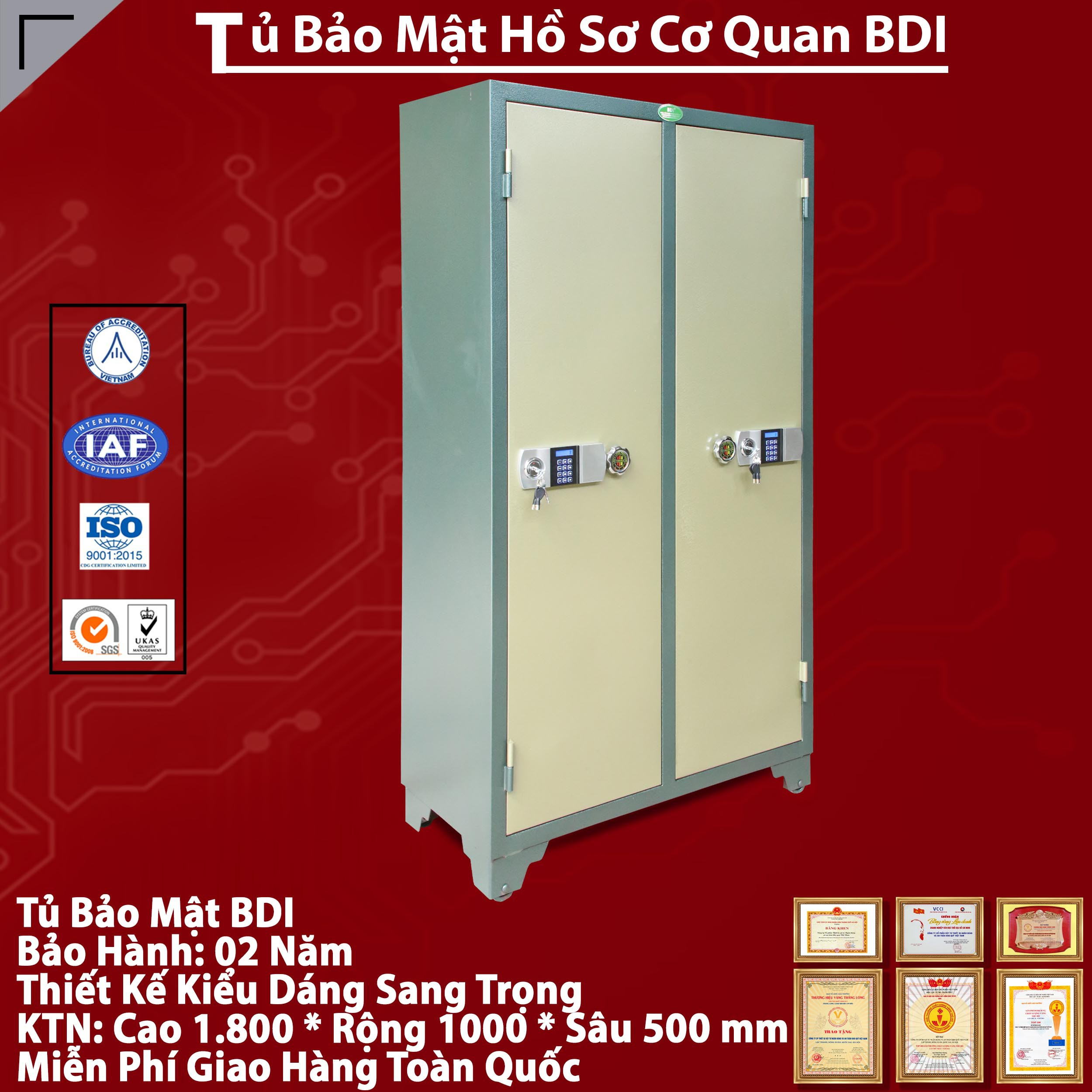 Tu Bao Mat 2 Canh Hien Dai Cao Cap