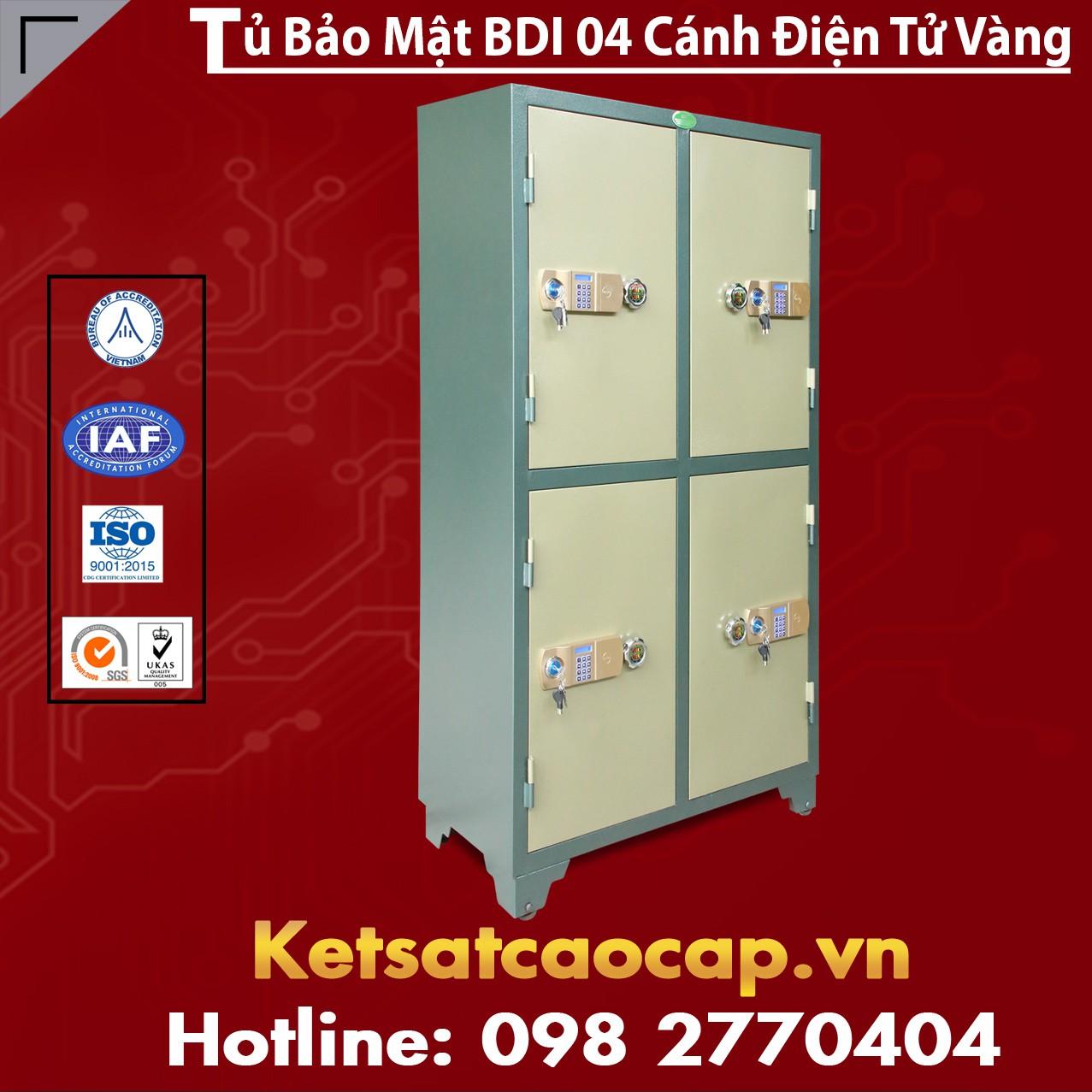 Tủ Bảo Mật BDI 4 Cánh Điện Tử Vàng
