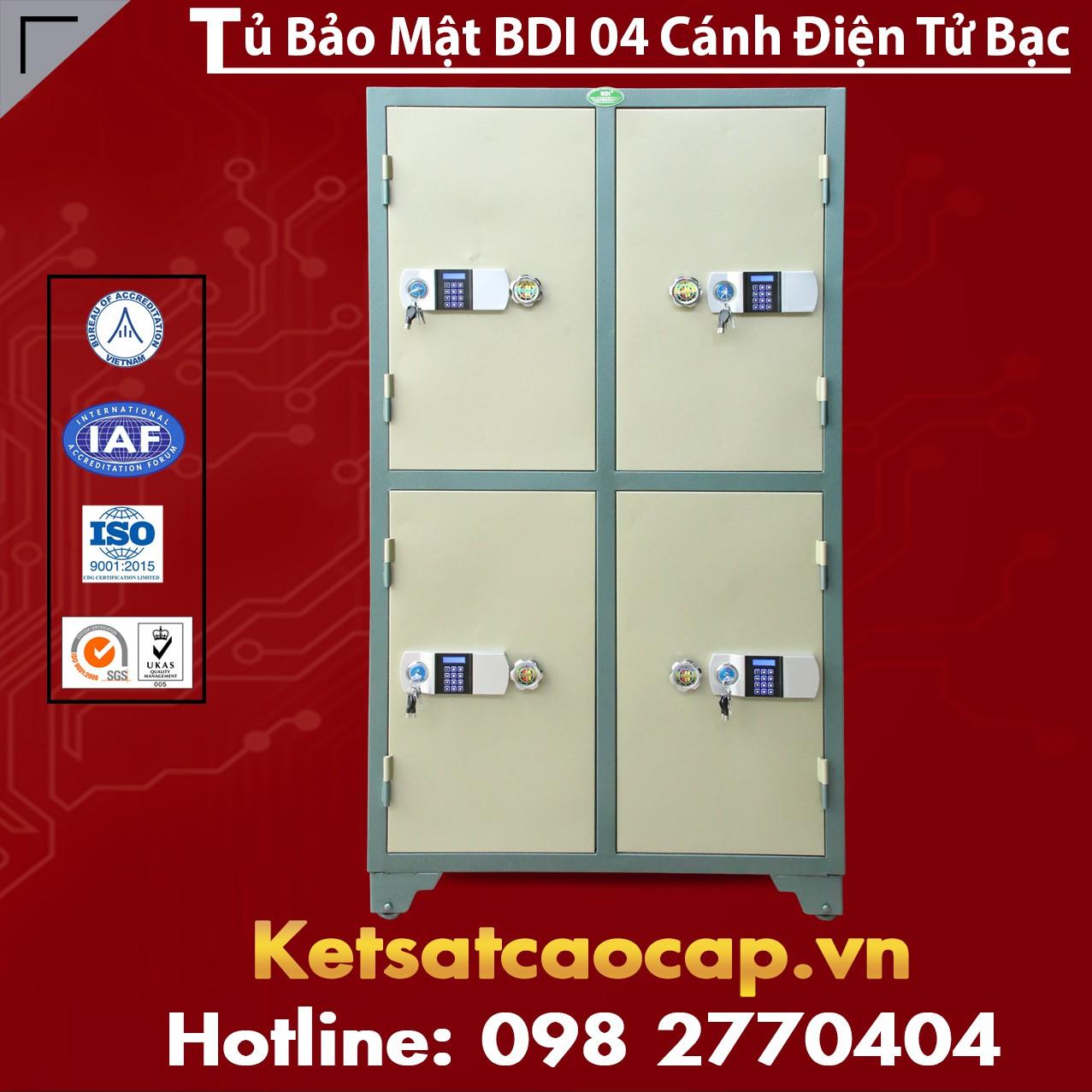 Tủ Bảo Mật BDI 4 Cánh Điện Tử Bạc
