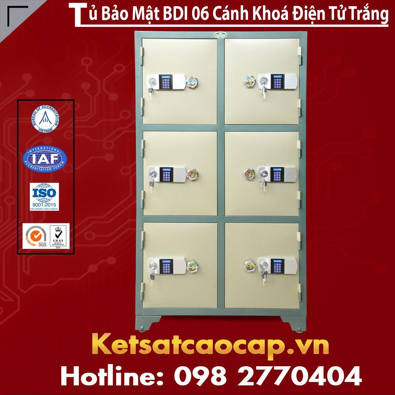 Tủ Bảo Mật BDI 06 Cánh Điện Tử Trắng
