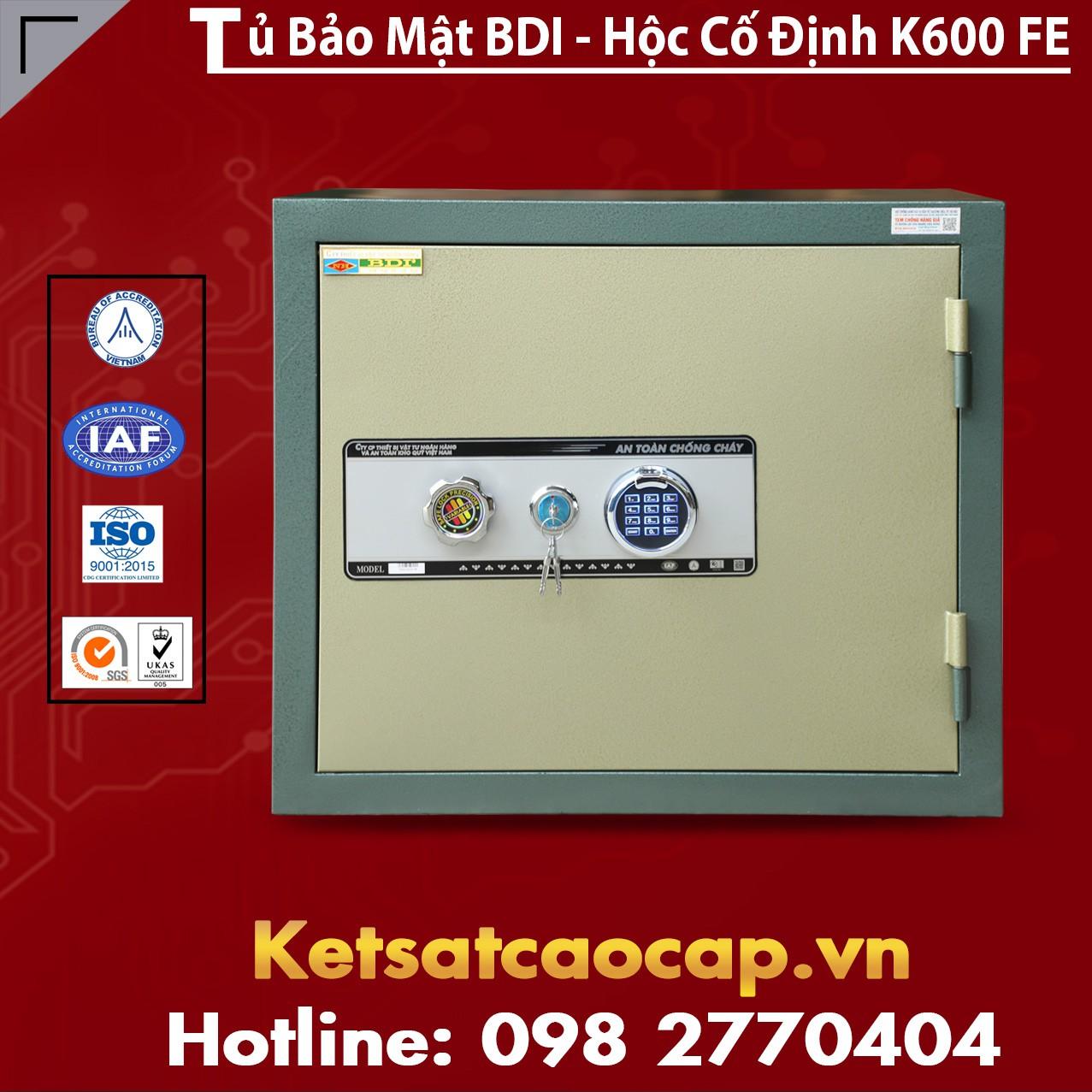 Tủ Bảo Mật BDI - Hộc Cố Định K600 - FE