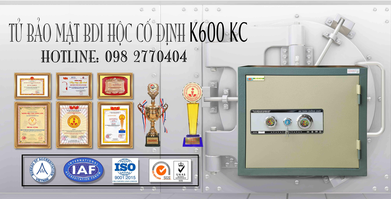 Tủ Bảo Mật BDI Hộc Cố Định K600 KC
