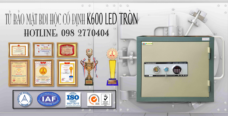 Tủ Bảo Mật BDI Hộc Cố Định K600 LED Tròn