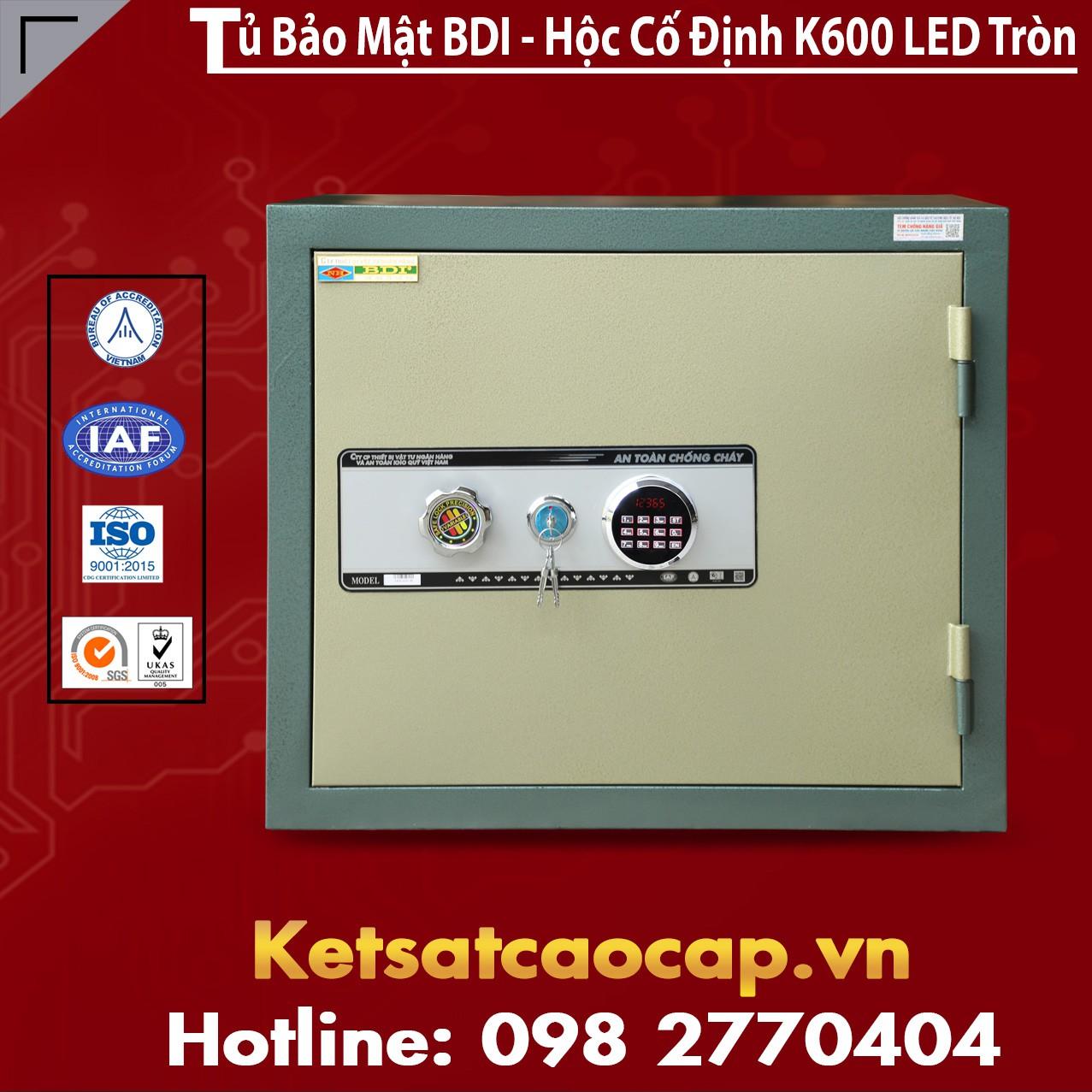 Tủ Bảo Mật BDI - Hộc Cố Định K600 - LED Tròn