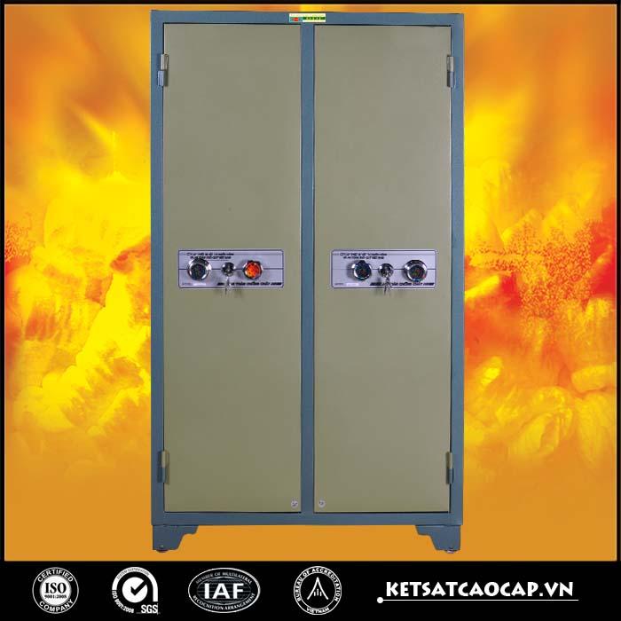 Tủ bảo mật 2 cánh xanh khóa cơ