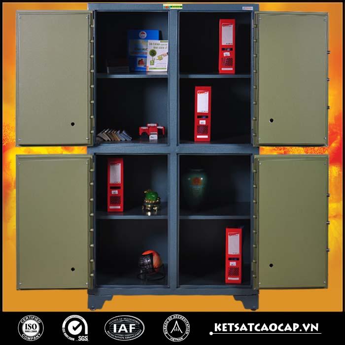 hình ảnh sản phẩm Tủ bảo mật 4 cánh xanh điện tử