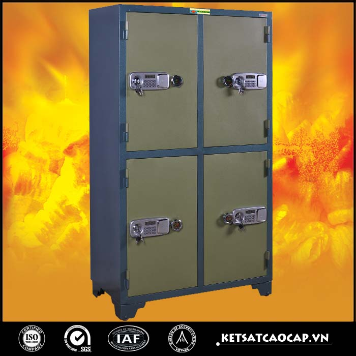 Tủ bảo mật 4 cánh xanh điện tử