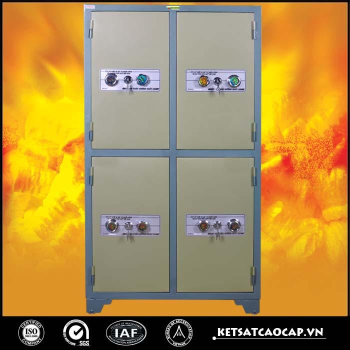 Tủ bảo mật 4 cánh Xanh khóa cơ