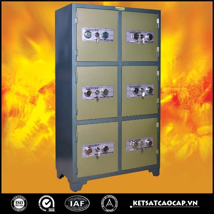 hình ảnh sản phẩm Tủ bảo mật 6 cánh xanh Khóa cơ