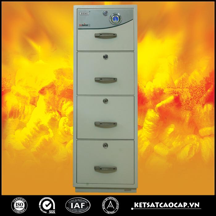 Tủ sắt chống cháy 4 ngăn
