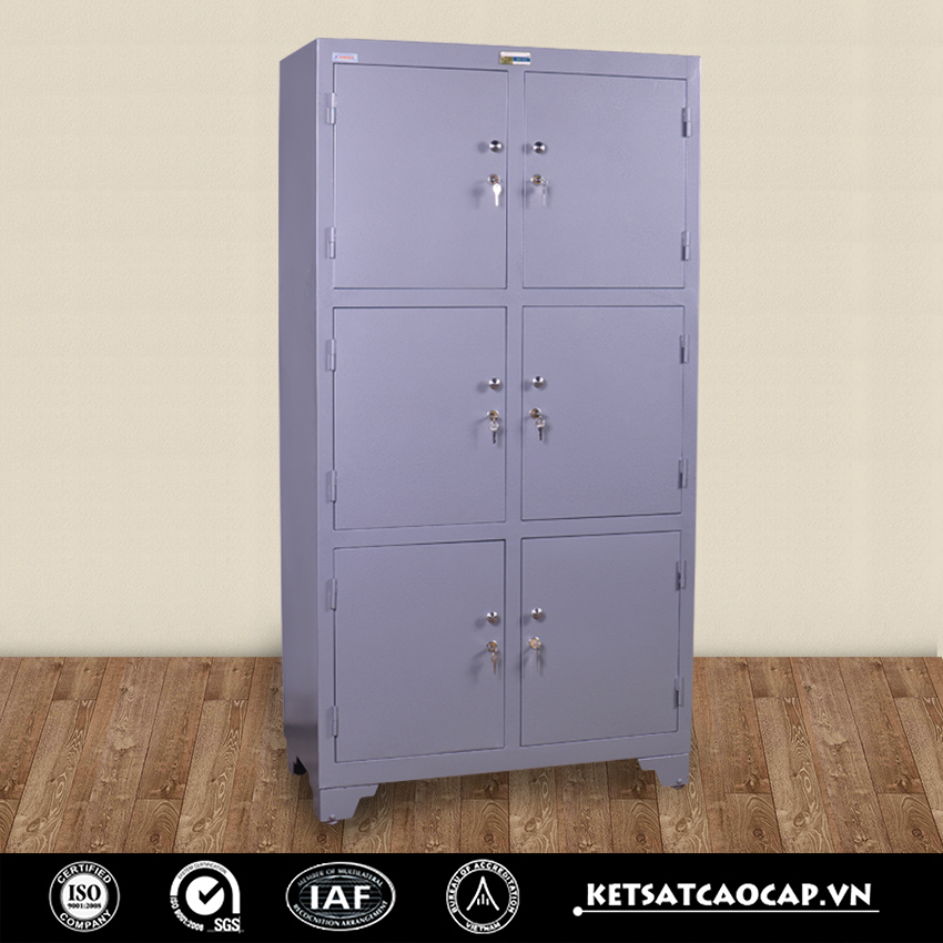 Nha may san xuat tu bao mat co chan WELKO Safes Cabinet