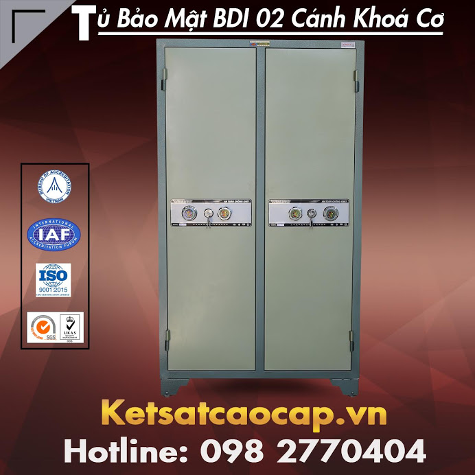 Tủ Bảo Mật BDI 02 Cánh KC