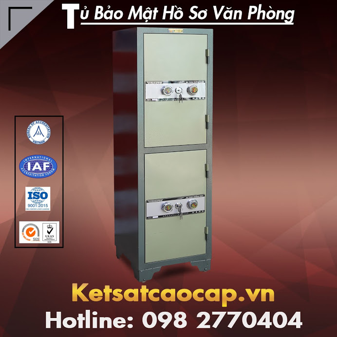 Thanh ly tu ho so 2 canh WELKO Safes Fire Resistant Cabinet uy tin