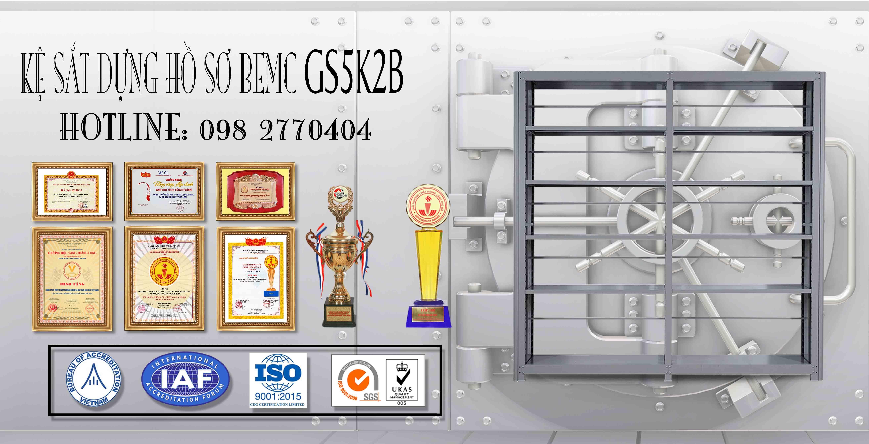 Giá thép để hồ sơ 5 tầng GS5K2B