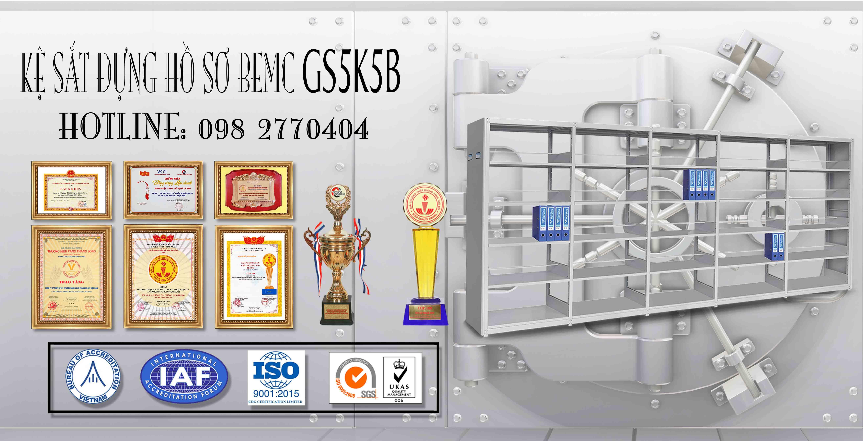 Giá thép để hồ sơ 5 tầng GS5K5B