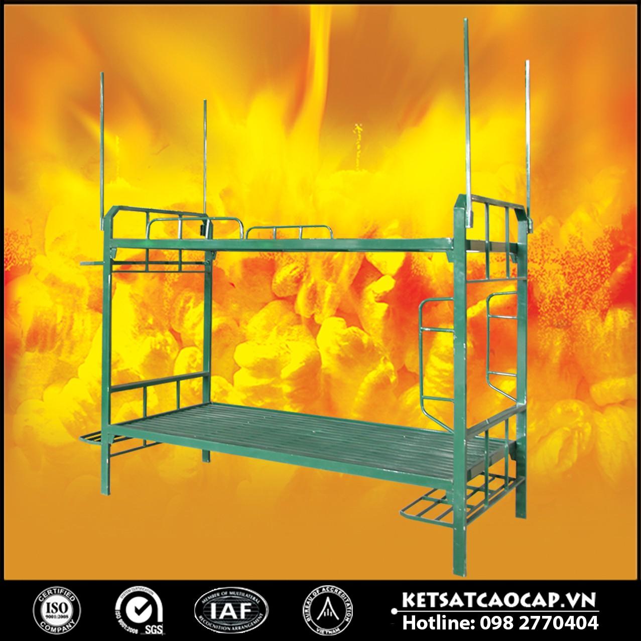 Giường sắt 2 tầng chiến sỹ, giường tầng quân đội
