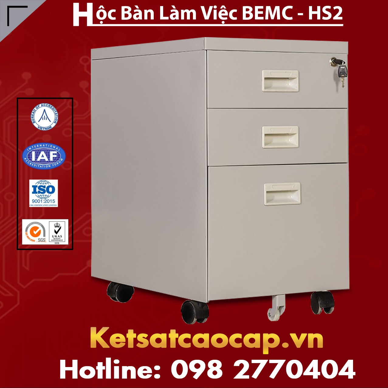 Hộc Bàn Làm Việc BEMC - HS2