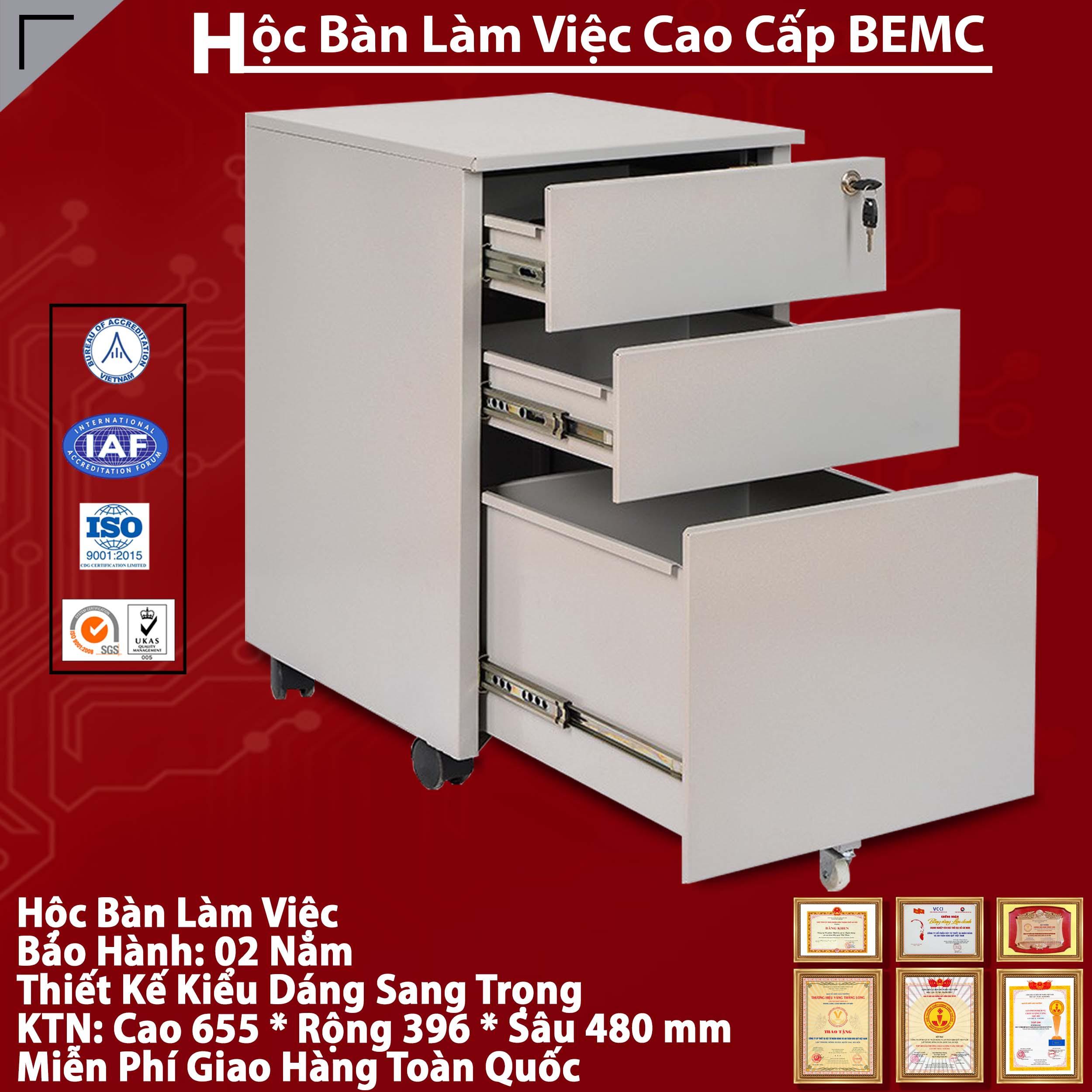 Hộc bàn làm việc di động bằng sắt BEMC - HS5