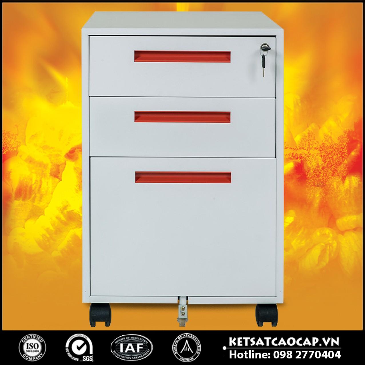 BEMC-HS1D Hộc sắt di dộng 3 ngăn kéo sử dụng thép sơn tĩnh điện