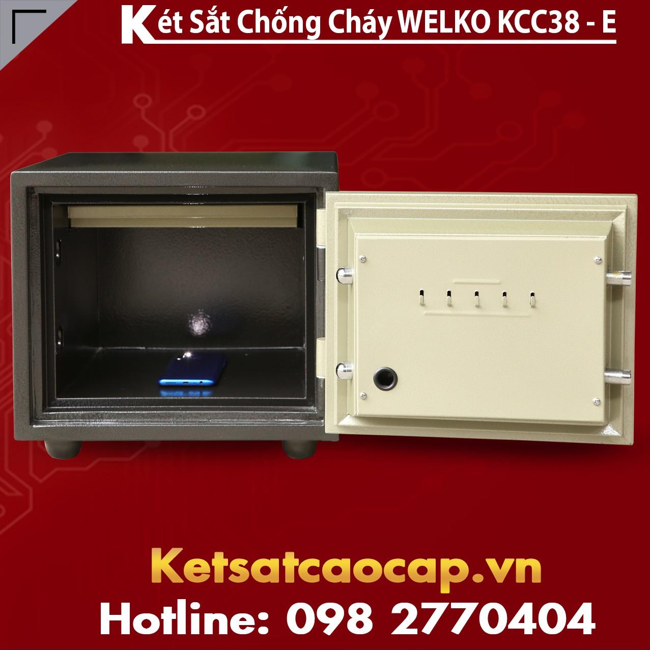 Két Sắt Điện Tử KCC38 E - Silver