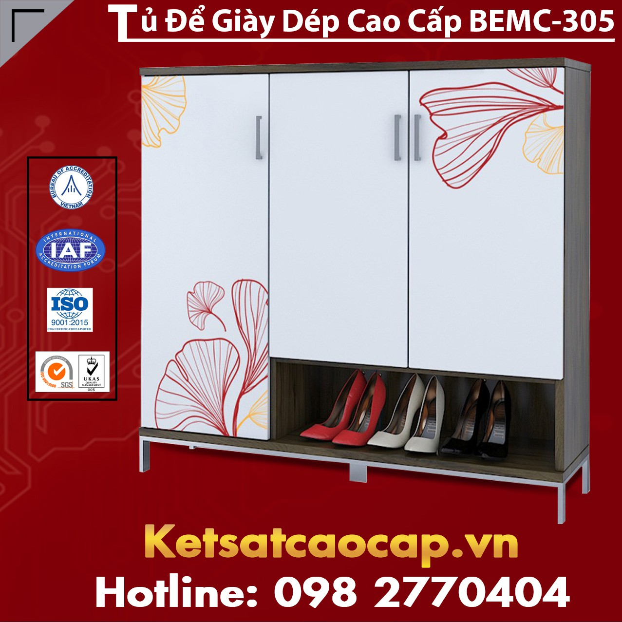 Tủ Để Giày Dép Cao Cấp BEMC-305