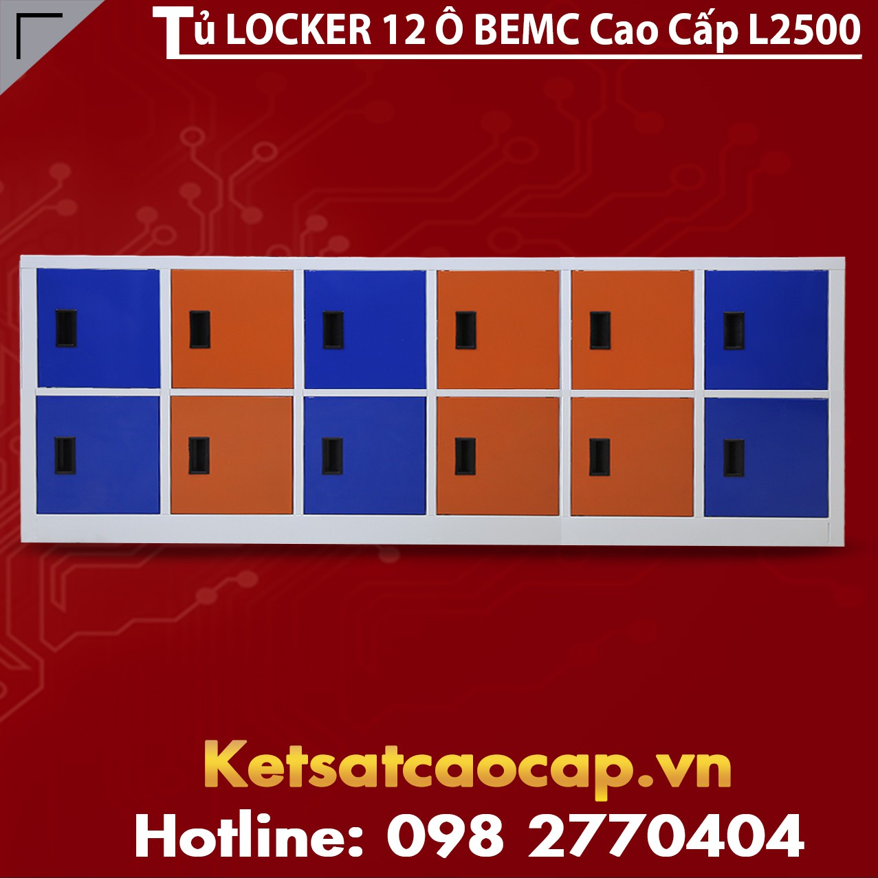 Tủ Locker 12 Ngăn BEMC L2500