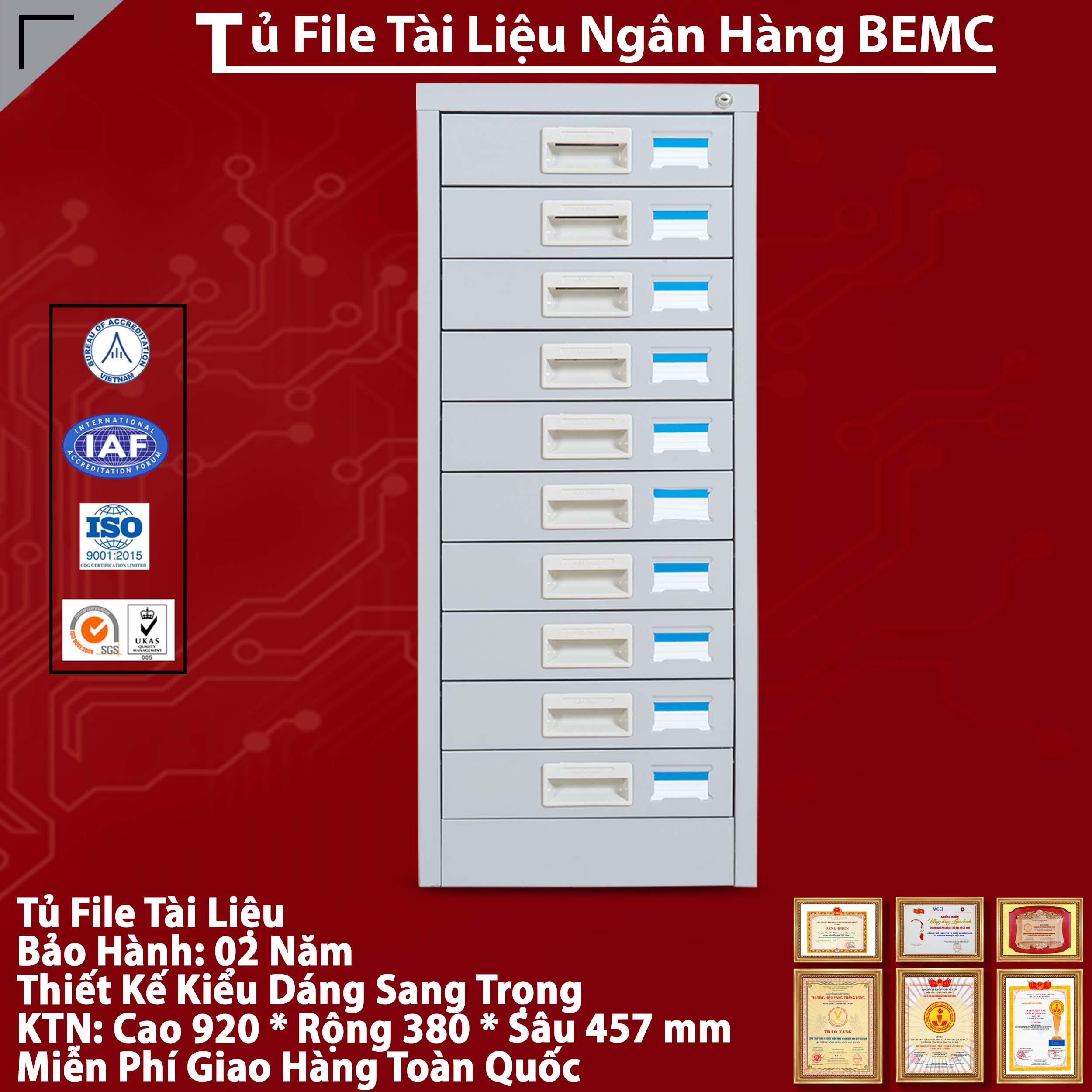 Tủ Sắt File Ngân Hàng BEMC - 10F