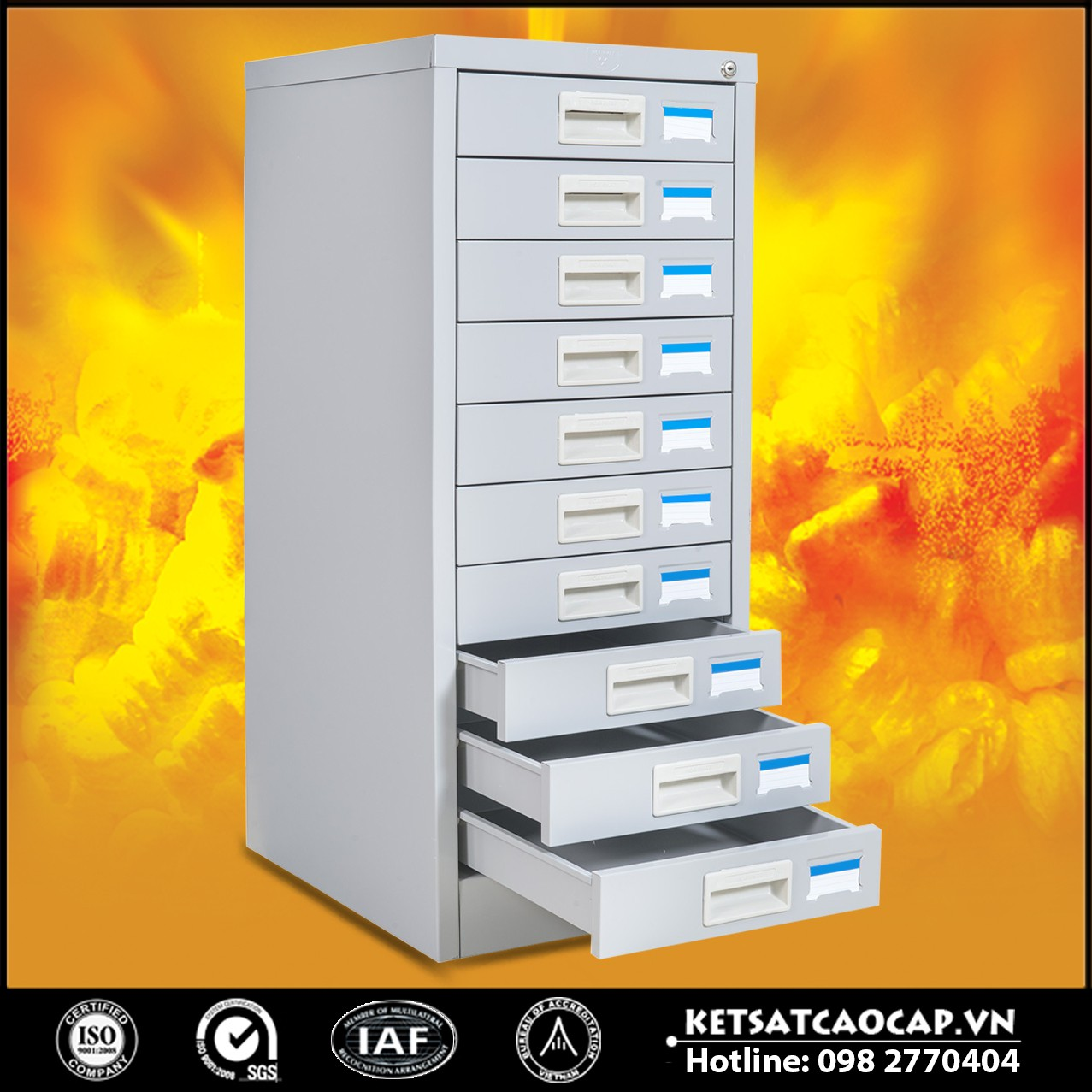 Cửa Hàng Tủ Sắt Để FILE Tài Liệu BEMC - 10F
