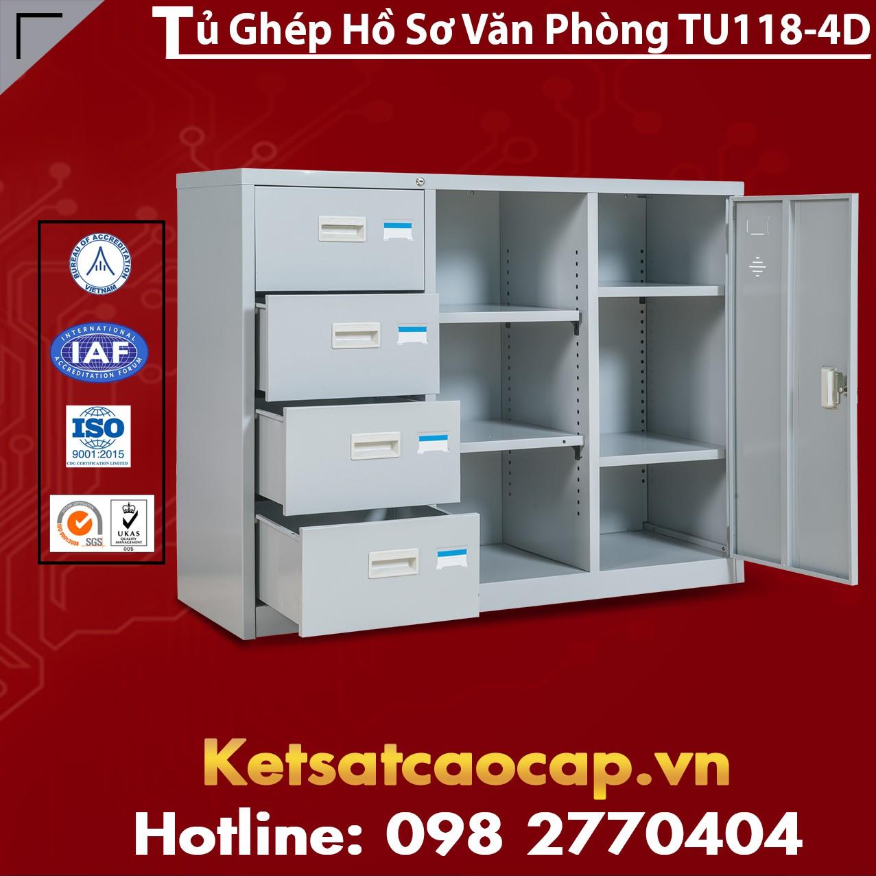 Tủ Ghép Hồ Sơ Văn Phòng TU118-4D
