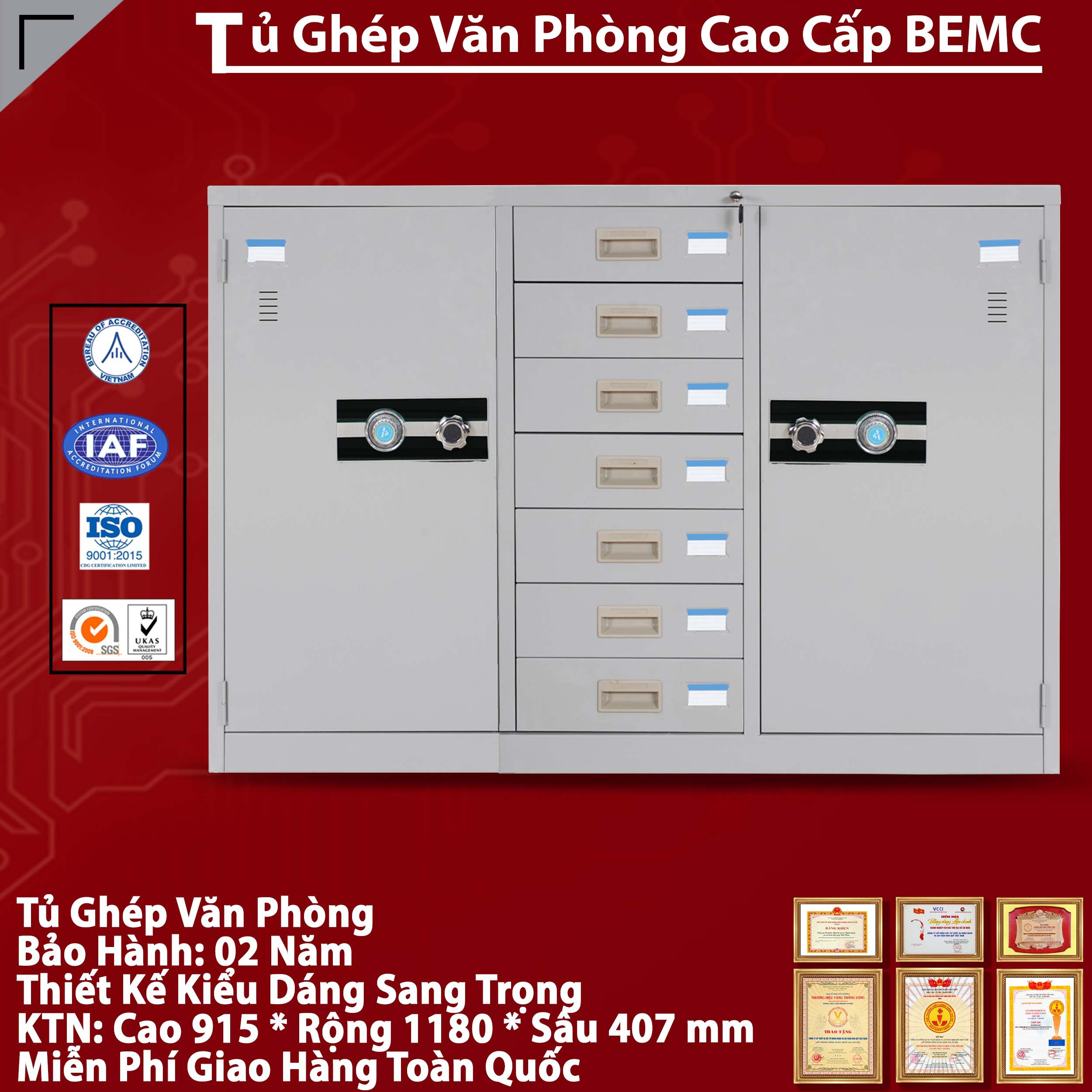 Tủ Tài Liệu Hồ Sơ BEMC-118-7D