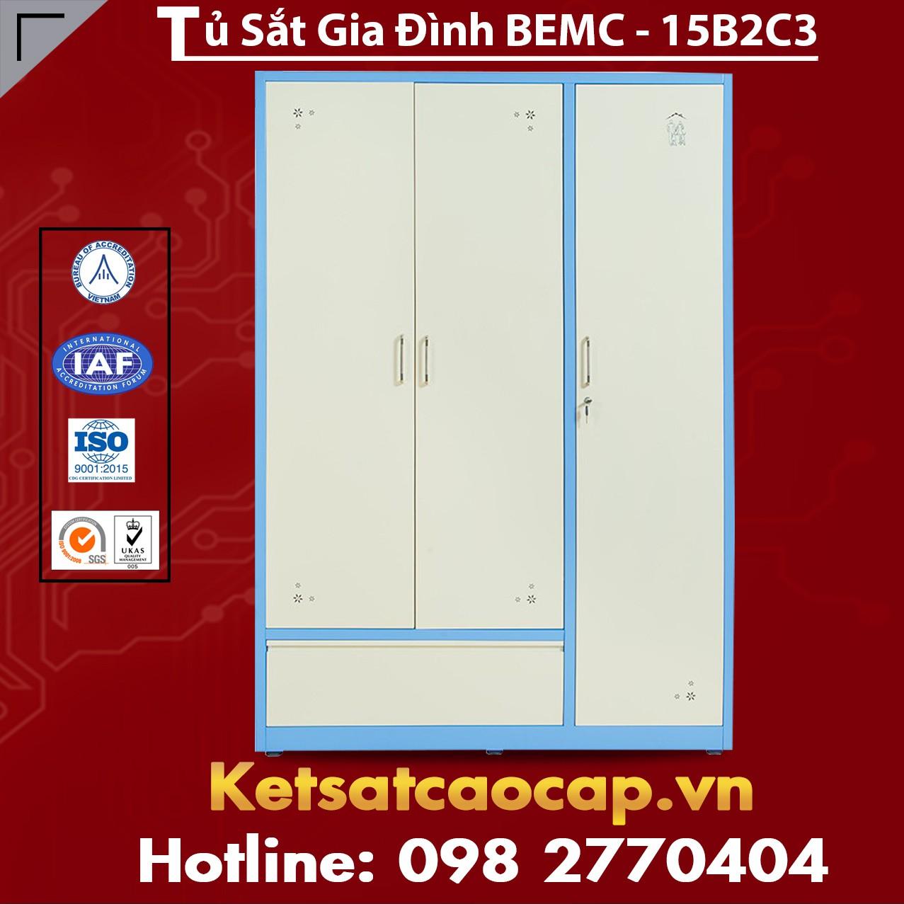 Tủ Sắt Gia Đình BEMC - 15B2C3