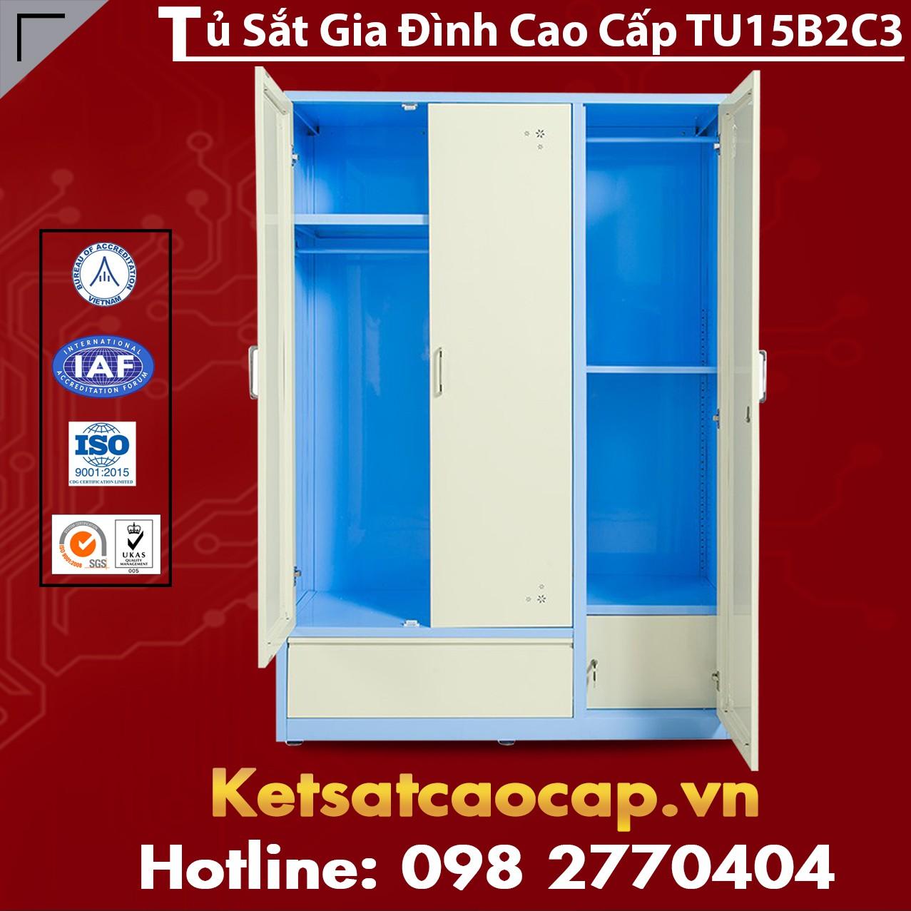 Tủ Sắt Gia Đình TU15B2C3