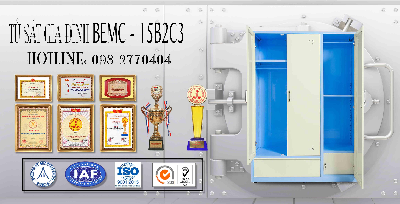 Tủ sắt sơn tĩnh điện TU15B2C3