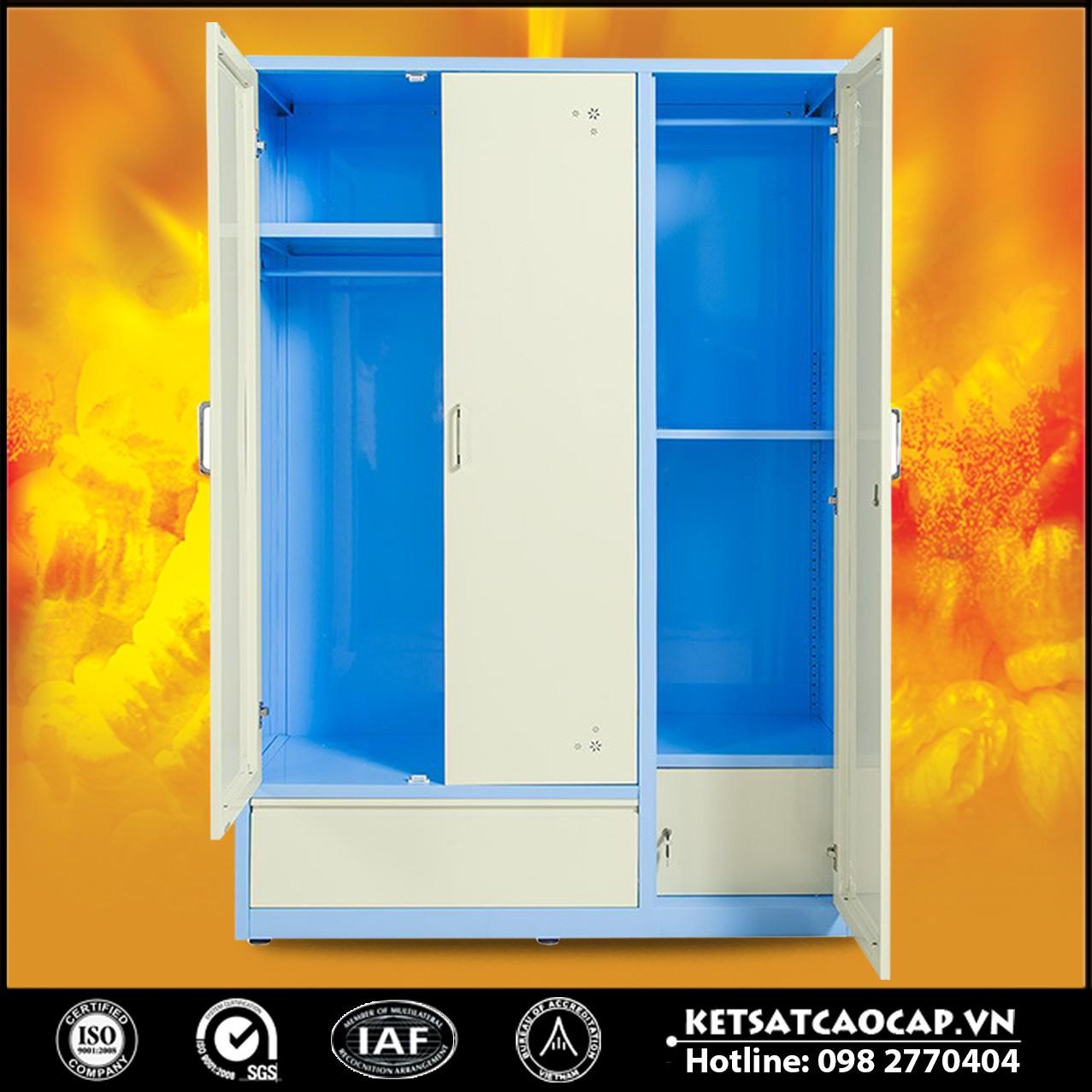 Tủ quần áo bằng thép TU15B2C3