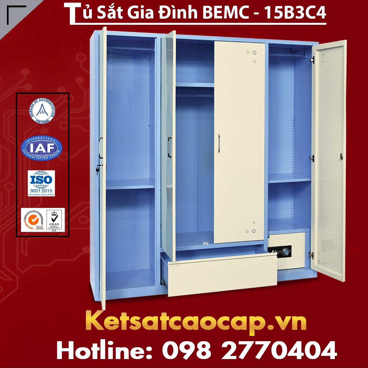 Tủ Sắt Gia Đình BEMC - 15B3C4
