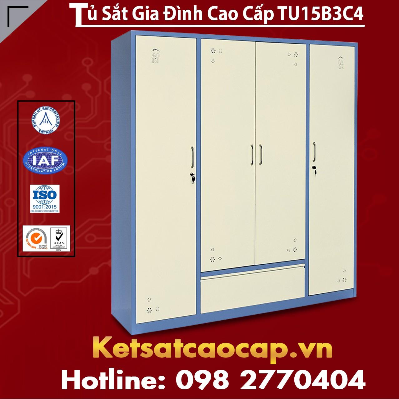 Tủ Sắt Gia Đình TU15B3C4