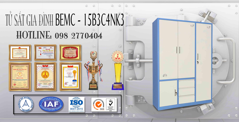 Tủ sắt sơn tĩnh điện BEMC-15B3C4NK3