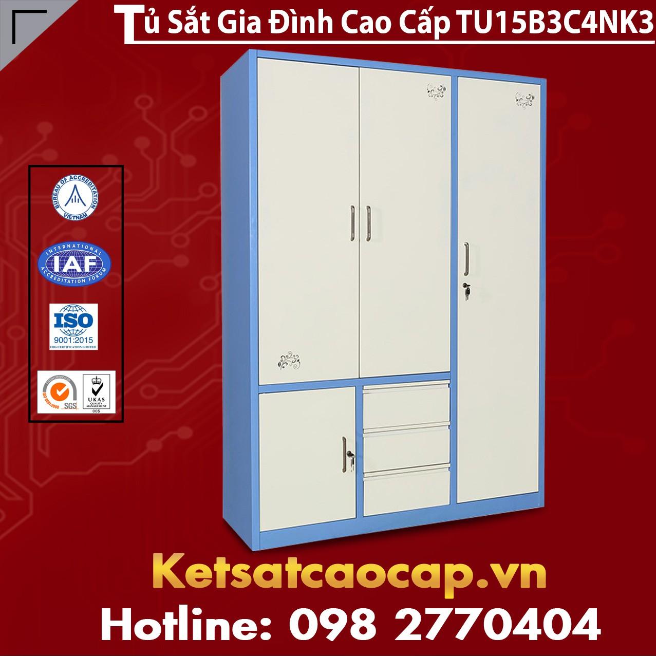 Tủ Sắt Gia Đình TU15B3C4NK3