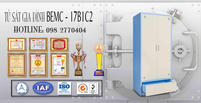 Tủ sắt sơn tĩnh điện BEMC - 17B1C2