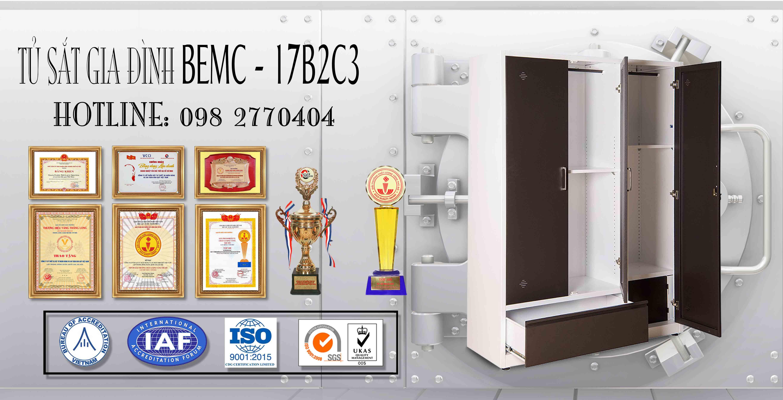 Tủ sắt sơn tĩnh điện BEMC-17B2C3
