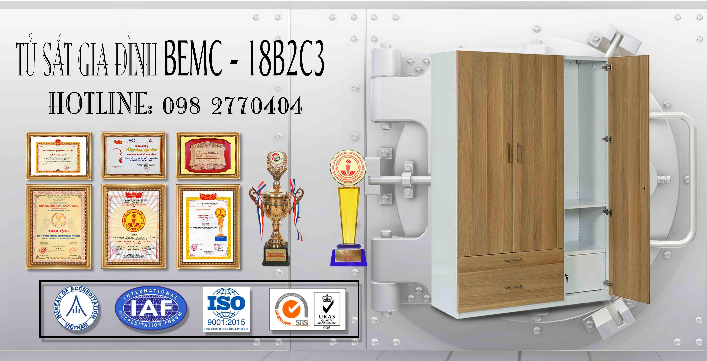 Tủ sắt sơn tĩnh điện BEMC - 18B2C3