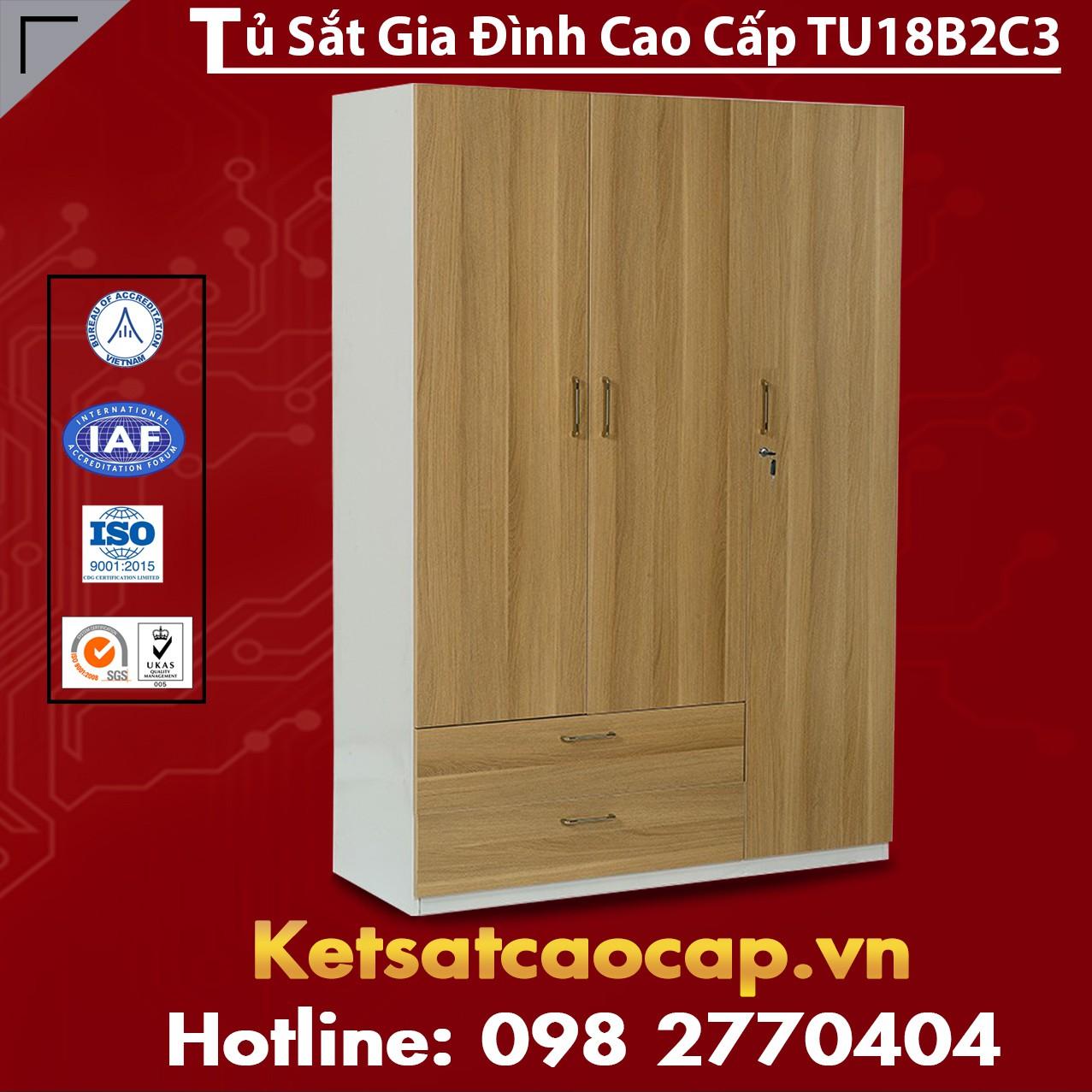 Tủ Sắt Gia Đình TU18B2C3