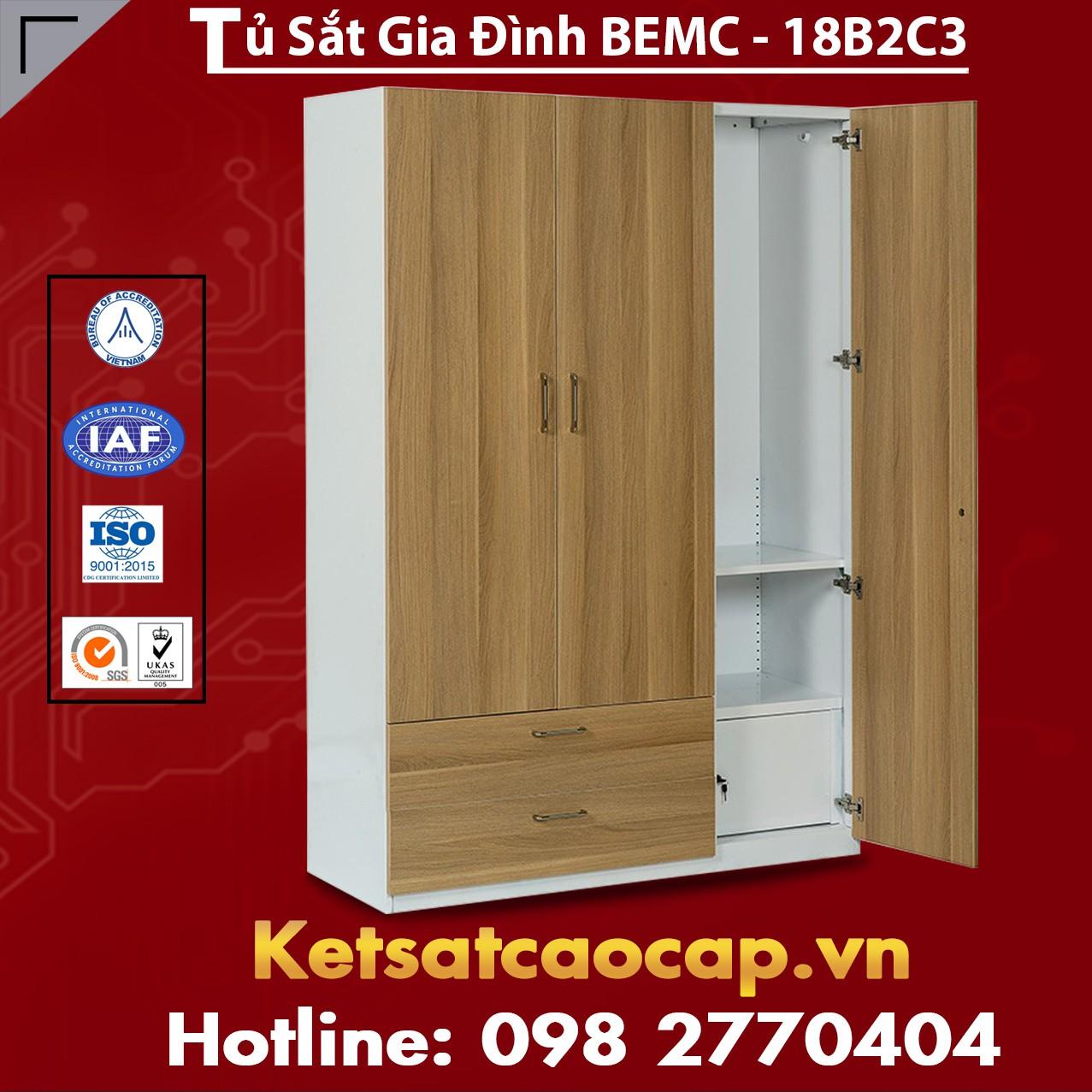 Tủ Sắt Gia Đình BEMC - 18B2C3