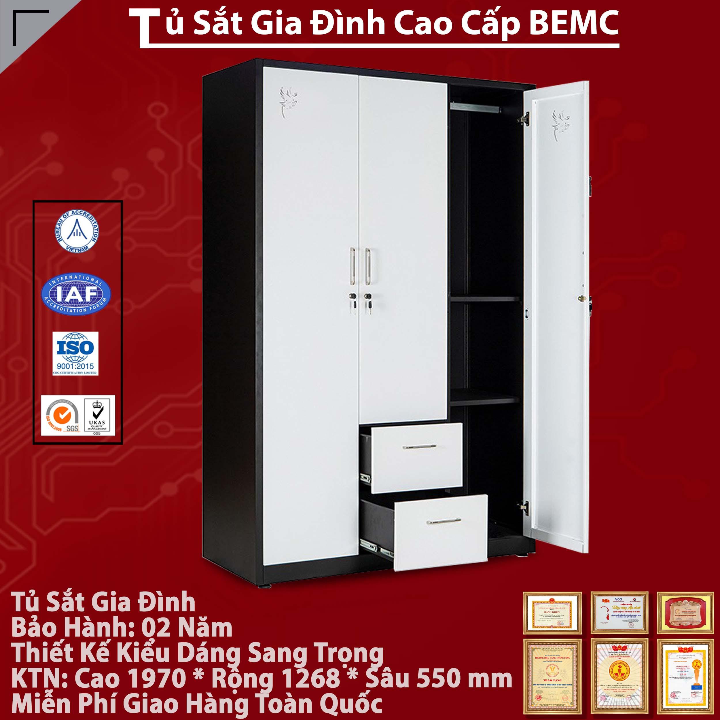 Tủ khung thép sơn tĩnh điện BEMC - 20B2C3 chính hãng