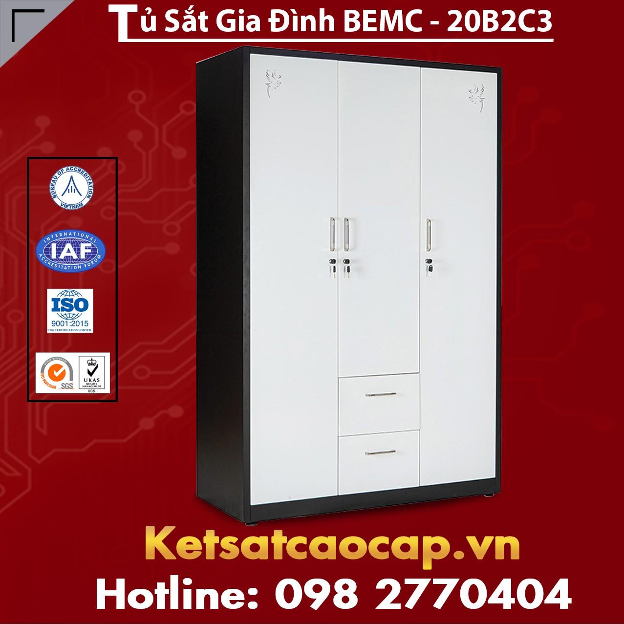 Tủ Sắt Gia Đình BEMC - 20B2C3