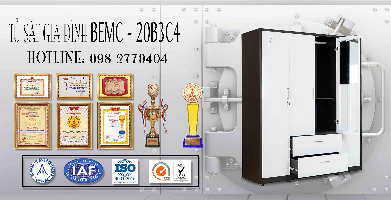 Tủ sắt sơn tĩnh điện BEMC-20B3C4