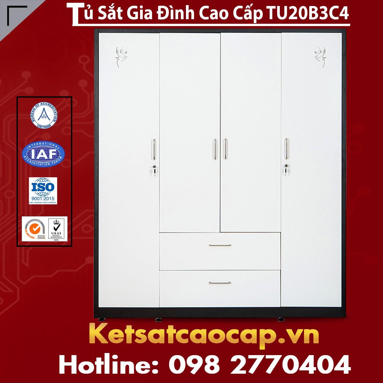 Tủ Sắt Gia Đình TU20B3C4