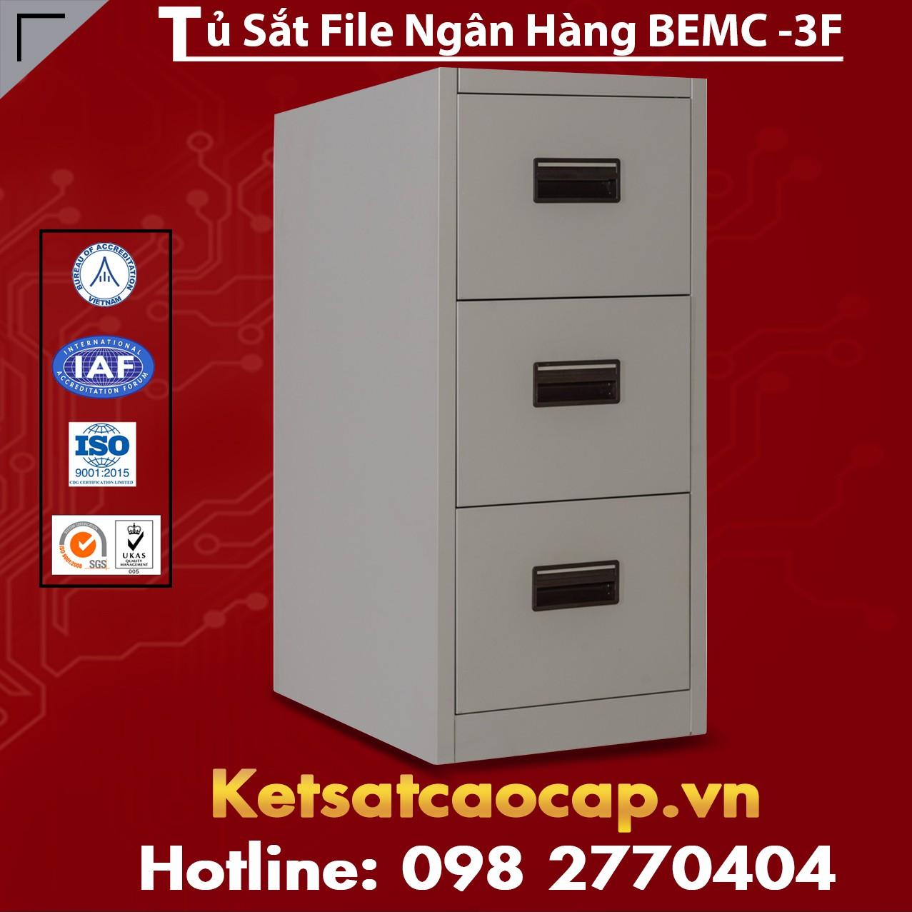 Tủ Sắt File Ngân Hàng BEMC - 3F