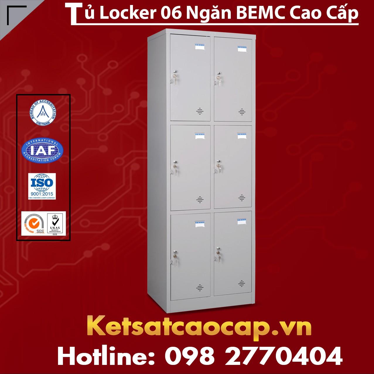 Tủ Locker BEMC 6 Ngăn