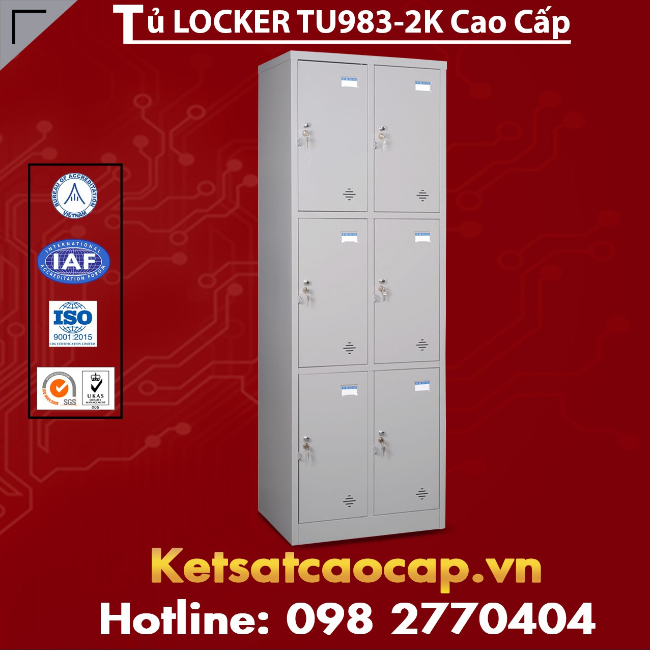 Tủ Locker TU983-2K